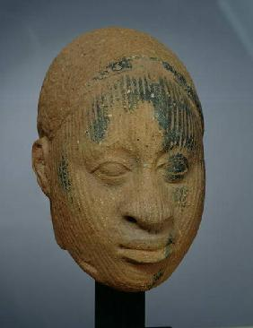 Head of a figurine, from Ifa, Nigeria 12th-14th
