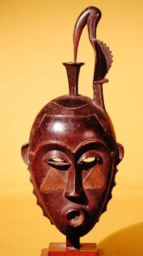Mask surmounted by a wader, Yaoure Population, Ivory Coast