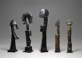 Five Mossi dolls, Burkina Faso, 19th-20th century