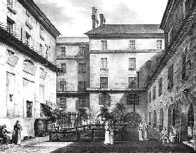 View of the Women''s Yard at the Conciergerie Prison; engraved by Alphonse Urruty (1800-70) c.1831