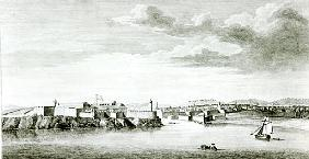 A Prospect of the Moro Castle and City of Havana from the sea; engraved by Pierre Charles Canot from