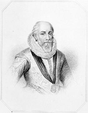 Edward Somerset, after an engraving from ''Lodge''s British Portraits''