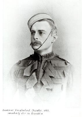 Photograph of Sir Francis Younghusband (1863-1942) in 1887 from ''The Heart of a Continent'', publis