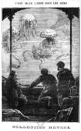 The Nautilus Passengers, illustration from ''20,000 Leagues Under the Sea'' Jules Verne (1828-1905)