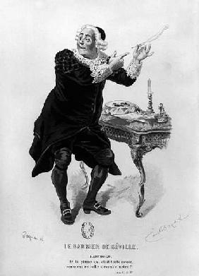 Bartholo, illustration from Act II Scene 11 of ''The Barber of Seville'' Pierre Augustin Caron de Be