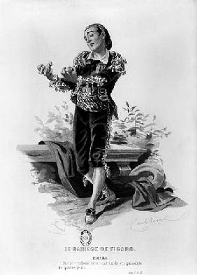 Figaro, illustration from Act V Scene 3 of ''The Marriage of Figaro'' Pierre Augustin Caron de Beaum