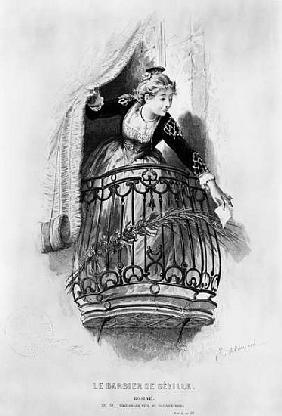 Rosine, illustration from Act I Scene 3 of ''The Barber of Seville'' Pierre Augustin Caron de Beauma