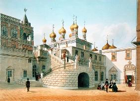 View of the Boyar Palace in the Moscow Kremlin, printed Lemercier, Paris, 1840s