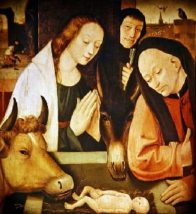 Adoration of the Shepherds (oil on oak panel)