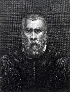 Tintoretto; engraved by Delaistre