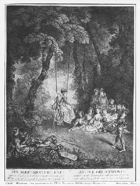 The pleasures of summer; engraved by Francois Joullain (1697-1778)