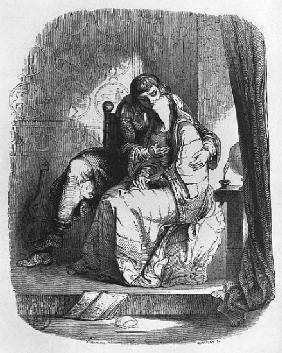 Heloise and Abelard kissing, illustration from ''Lettres d''Heloise et d''Abelard''