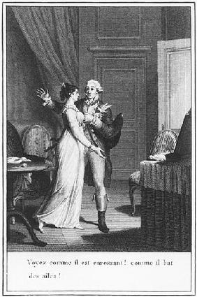 Illustration from ''The Sorrows of Werther'' Johann Wolfgang Goethe (1749-1832) ; engraved by Jean B