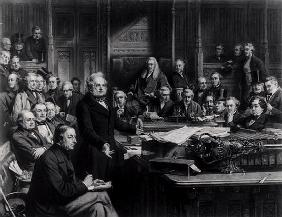 The House of Commons in 1860: Lord Palmerston Addressing the House during the Debate on the Treaty w