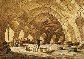 The Wheat Store, Rue de Viarmes; engraved by I. Hill