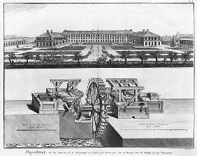 A paper mill, illustration from the ''Encyclopedie des Sciences et Metiers'' Denis Diderot (1713-84)