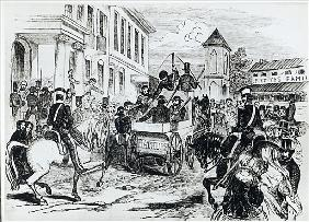 Arrival of the Government Conveyance at the Colonial Treasury, Sydney, on 21st August 1851, from ''T
