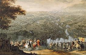 The Battle of Poltava; engraved by one of the Nicolas Larmessin family