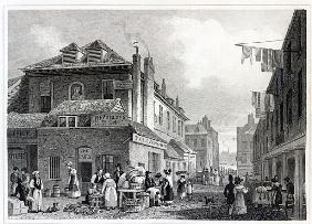 Hungerford Market, Strand; engraved by Thomas Barber