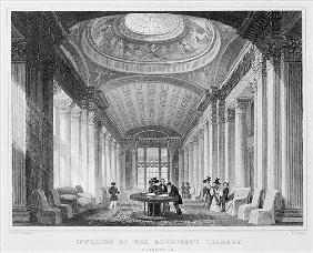 Interior of the Advocate''s Library, Edinburgh; engraved by William Watkins