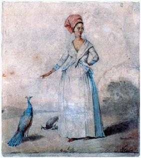 Lady with peacock c.1770