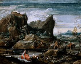 Landscape with Bathers 16. Jh