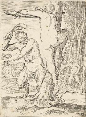 Satyr Whipping a Nymph 1590