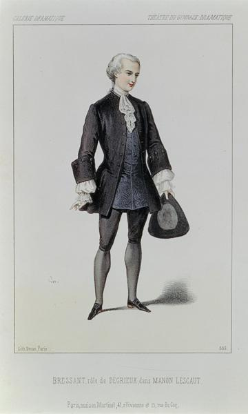 Bressant in the role of Degrieux, in the opera ''Manon Lescaut'', by Giacomo Puccini (1858-1924) pub