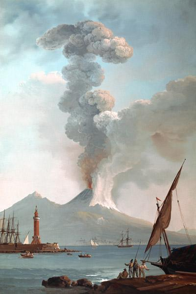 Vesuvius / Eruption in 1822 / Painting