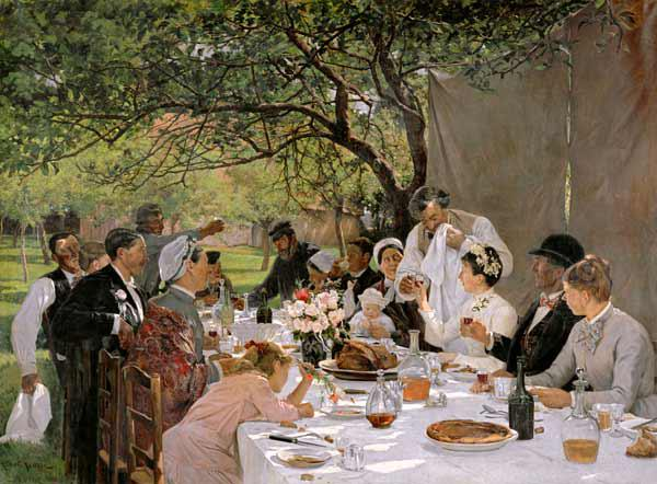 The Wedding Meal at Yport 1886