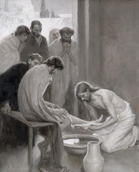 Jesus Washing the Feet of his Disciples 1898
