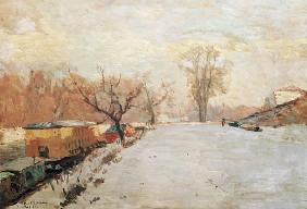 Road by the Seine at Neuilly in Winter c.1888