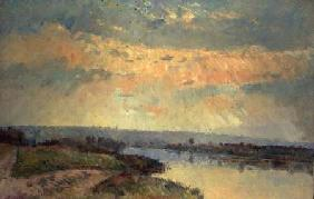 Late Afternoon on the Seine 1900