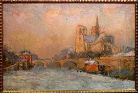Quai de la Tournelle and Notre-Dame de Paris 1909