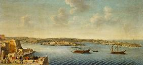View of Valetta with Ships of the Order of the Knights of St. John