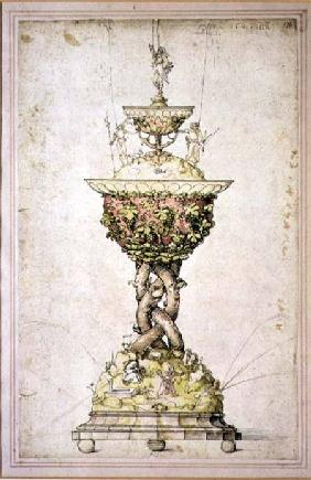 Design for a Table Fountain 1509  &