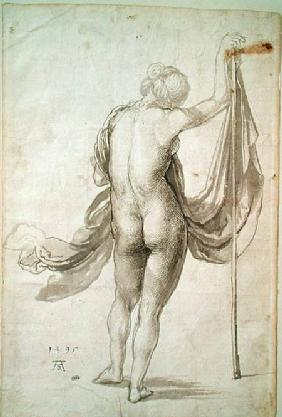 Nude Study or, Nude Female from the Back 1495  &