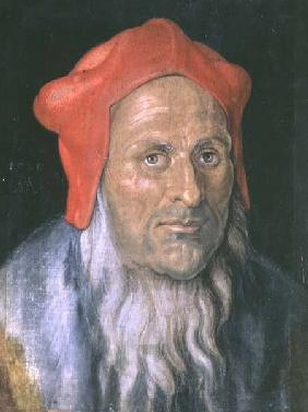 Portrait of a Bearded Man in a Red Hat 1520