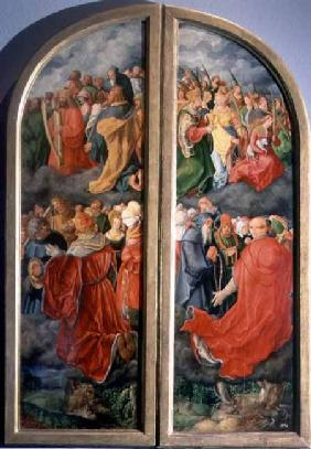 All Saints Day altarpiece, partial copy in the form of two side panels 16th centu