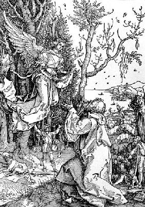 Joachim and the Angel from the ''Life of the Virgin'' series, pub. 1511