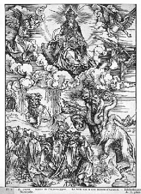Scene from the Apocalypse, The seven-headed and ten-horned dragon