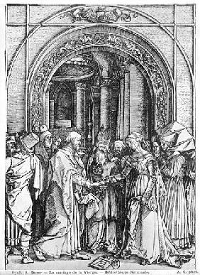 The marriage of the Virgin, from the ''Life of the Virgin'' series, c.1504-05