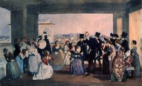 October Celebration in Rome 1842  on