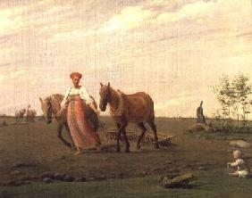 Ploughing in Spring 1820s