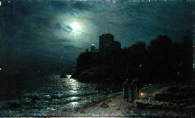 Moonlight on the Edge of a Lake 1870