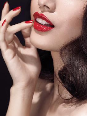 Lips in crimson no.1
