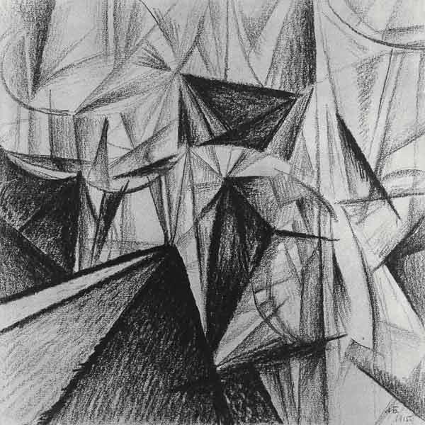 Rayonnist Composition (Rhythmic Composition) 1915