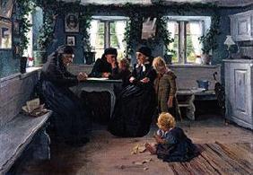 Kunstdruck von Alexander Koester - Alte und junge Bäuerinnen im Herrgottswinkel