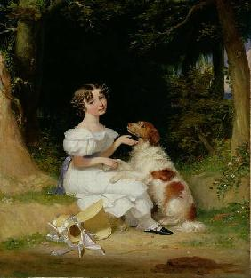 A Young Girl with Her Spaniel 1832