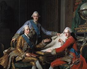 King Gustav III of Sweden (1746-92) and his Brothers 1771